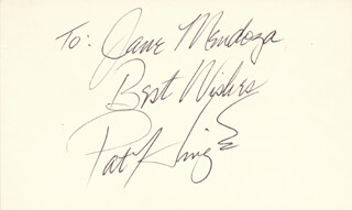 PAT HINGLE - AUTOGRAPH NOTE SIGNED