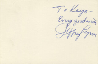 JEFFREY LYNN - AUTOGRAPH NOTE SIGNED