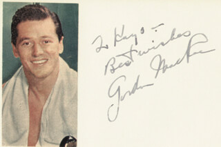 GORDON MacRAE - AUTOGRAPH NOTE SIGNED