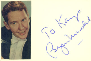 BURGESS MEREDITH - INSCRIBED SIGNATURE