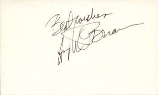 HUGH O'BRIAN - AUTOGRAPH SENTIMENT SIGNED