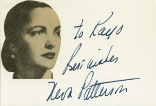 NEVA PATTERSON - AUTOGRAPH NOTE SIGNED