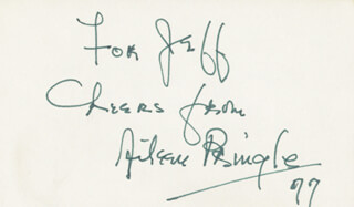 AILEEN PRINGLE - AUTOGRAPH NOTE SIGNED 1977