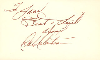 DALE ROBERTSON - AUTOGRAPH NOTE SIGNED