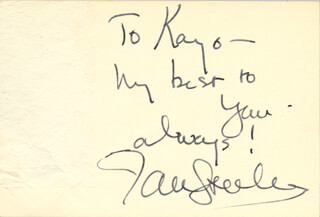 JAN STERLING - AUTOGRAPH NOTE SIGNED