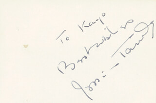 JESSICA TANDY - AUTOGRAPH NOTE SIGNED