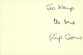 RIP TORN - AUTOGRAPH NOTE SIGNED