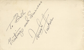FORREST TUCKER - AUTOGRAPH NOTE SIGNED CIRCA 1954