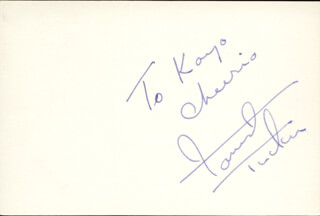 FORREST TUCKER - AUTOGRAPH NOTE SIGNED