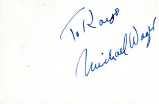 MICHAEL WAGER - INSCRIBED SIGNATURE