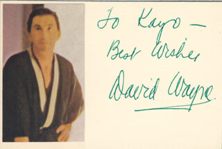 DAVID WAYNE - AUTOGRAPH NOTE SIGNED