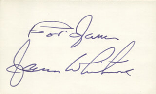 JAMES WHITMORE - INSCRIBED SIGNATURE