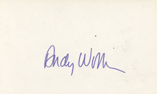 ANDY WILLIAMS - AUTOGRAPH