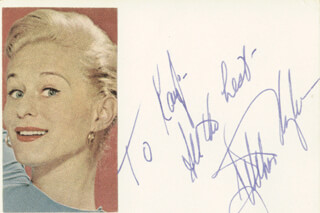 GRETCHEN WYLER - AUTOGRAPH NOTE SIGNED