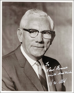 I. W. ABEL - AUTOGRAPHED INSCRIBED PHOTOGRAPH