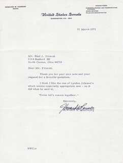 HOWARD W. CANNON - TYPED LETTER SIGNED 03/21/1978