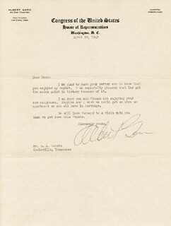 ALBERT A. GORE SR. - TYPED LETTER SIGNED 04/30/1945