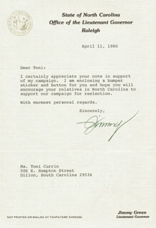 JIMMY GREEN - TYPED LETTER SIGNED 04/11/1980