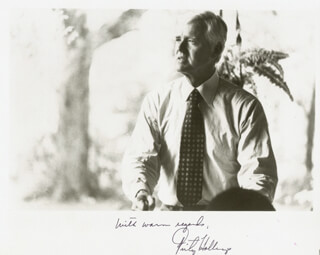 ERNEST FRITZ HOLLINGS - AUTOGRAPHED SIGNED PHOTOGRAPH