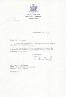 T. NORMAN HURD - TYPED LETTER SIGNED 09/25/1972