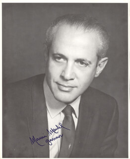 GOVERNOR MARVIN MANDEL - AUTOGRAPHED SIGNED PHOTOGRAPH