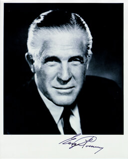 Autographs: GEORGE W. ROMNEY - PHOTOGRAPH SIGNED