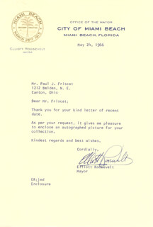 ELLIOTT ROOSEVELT - TYPED LETTER SIGNED 05/24/1966