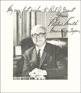 GOVERNOR PRESTON SMITH - AUTOGRAPHED SIGNED PHOTOGRAPH