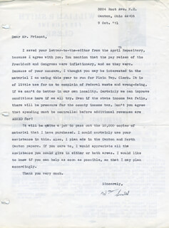WILLIAM P. SMITH - TYPED LETTER SIGNED 10/09/1971