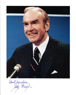 JAMES C. WRIGHT JR. - AUTOGRAPHED SIGNED PHOTOGRAPH