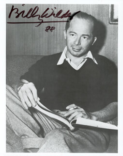 BILLY WILDER - AUTOGRAPHED SIGNED PHOTOGRAPH 1988