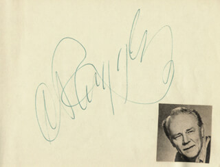 CHARLIE RUGGLES - AUTOGRAPH
