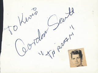 GORDON SCOTT - INSCRIBED SIGNATURE