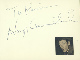 HOAGY CARMICHAEL - INSCRIBED SIGNATURE