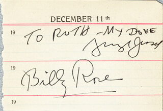 BILLY ROSE - AUTOGRAPH 12/11 CO-SIGNED BY: GEORGE JESSEL, HOPE HAMPTON, JULES E. BRULATOUR