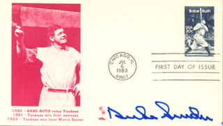 DUKE SNIDER - FIRST DAY COVER SIGNED