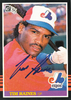 TIM ROCK RAINES - TRADING/SPORTS CARD SIGNED