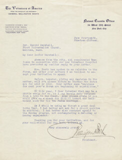 Autographs: BALLINGTON BOOTH - TYPED LETTER SIGNED 06/14/1915