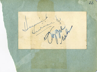 OZZIE NELSON - AUTOGRAPH CO-SIGNED BY: HARRIET HILLIARD NELSON