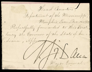 MAJOR GENERAL NAPOLEON J. T. DANA - ENDORSEMENT SIGNED 12/11/1864