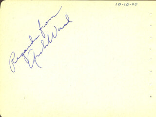 ARCH WARD - AUTOGRAPH CIRCA 1940 CO-SIGNED BY: THE RITZ BROTHERS , THE RITZ BROTHERS (JIMMY RITZ), THE RITZ BROTHERS (AL RITZ), THE RITZ BROTHERS (HARRY RITZ)