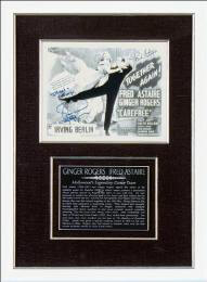 CAREFREE MOVIE CAST - AUTOGRAPHED INSCRIBED PHOTOGRAPH CO-SIGNED BY: FRED ASTAIRE, GINGER ROGERS