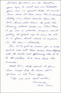ENOLA GAY CREW (GEORGE R. CARON) - AUTOGRAPH LETTER SIGNED 10/25/1988