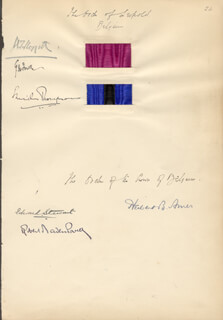 ROBERT BADEN-POWELL - AUTOGRAPH CO-SIGNED BY: EDWARD STEWART, HERBERT B. AMES, A. T. MOFFET