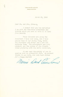 FIRST LADY MAMIE DOUD EISENHOWER - TYPED LETTER SIGNED 03/30/1954