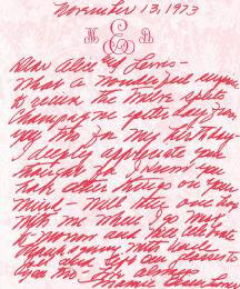 FIRST LADY MAMIE DOUD EISENHOWER - AUTOGRAPH LETTER SIGNED 11/13/1973