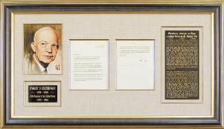 PRESIDENT DWIGHT D. EISENHOWER - TYPED LETTER SIGNED 10/13/1967