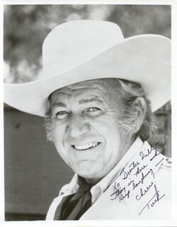 FORREST TUCKER - AUTOGRAPHED INSCRIBED PHOTOGRAPH