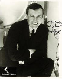 SIR DAVID FROST - AUTOGRAPHED INSCRIBED PHOTOGRAPH