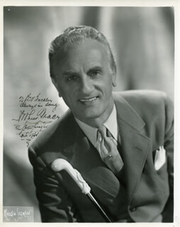 ARTHUR TRACY - AUTOGRAPHED INSCRIBED PHOTOGRAPH 2/1964